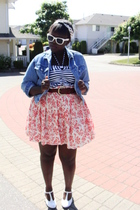 Gap skirt - jacket - American Eagle top - belt - Urban Outfitters sunglasses - s