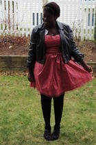 pink American Eagle dress - silver American Eagle cardigan - black Value Village