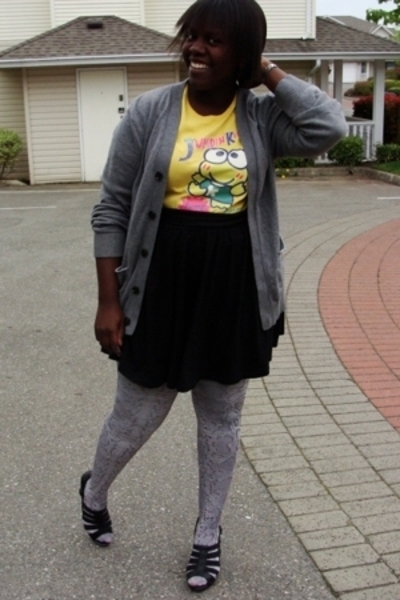 t-shirt - Gap sweater - H&amp;M stockings - Old Navy skirt - Jeffery Campbell shoes