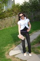 Aldo shoes - Rock & Republic jeans - simply vera wang purse -  belt - Bebe shirt