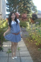 China dress - Aeropostale t-shirt - asos belt - China shoes - Marc Ekco