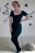 American Apparel dress - forever 21 belt - Spanx tights - Gem Story earrings - K