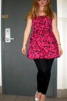 Forever21 dress - Street Vendor sunglasses - American Apparel tights - Mandee sh
