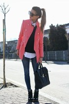 salmon Alexander Wang coat