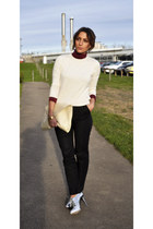 Jimmy Choo shoes - Milan bag - Primark jumper - Zara jumper - Zara pants