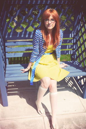chartreuse asos dress - blue Topshop jacket - white calvin klein socks