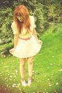 White-asos-dress-pink-miss-selfridge-belt-beige-schuh-shoes