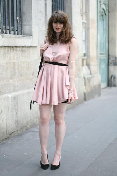 light pink romwe dresses black milanoo bags quot chamallow