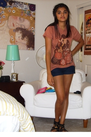 Obey clothing t-shirt - forever 21 shorts - Urban Outfitters shoes