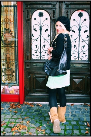 Junkboutique dress - Mango accessories - pieces hat - falke tights