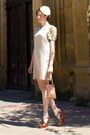 Light-pink-sandro-dress-ivory-lukita-hat-pink-vintage-bag-dark-brown-compt