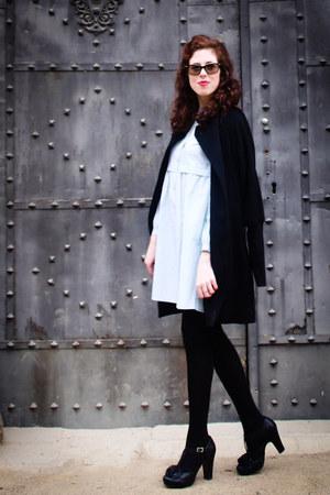 light blue Medwinds dress - black Chie Mihara shoes