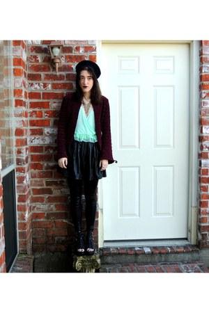 Urban Outfitters top - Tobi leggings - Forever 21 skirt