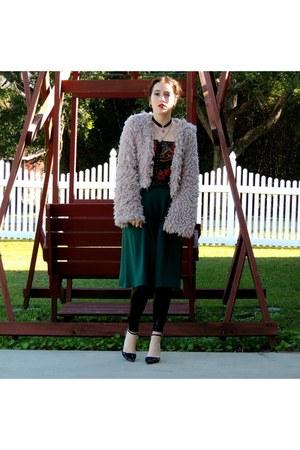 Miss KL Furry Jacket jacket - Tobi Croc Leggings leggings