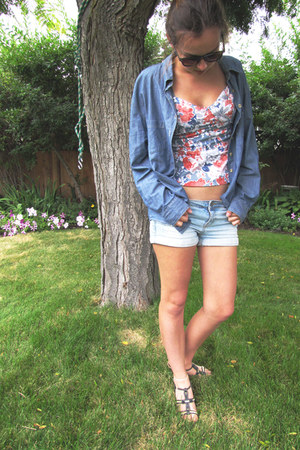 Dockers jacket - Bluenotes shorts - asos top - Aerosole wedges
