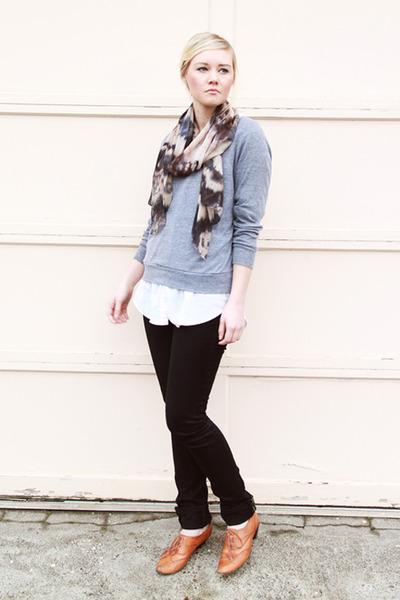 tawny oxfords vintage shoes - black J Brand jeans