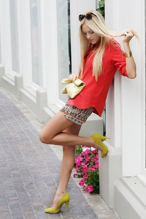 Rebecca Minkoff shorts - American Apparel bag - shoemint heels