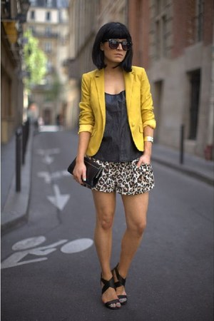asos blazer - Jimmy Choo bag - H&M shorts