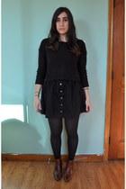 H&M skirt - vintage shoes - H&M sweater