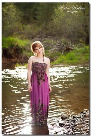magenta maxi Forever21 dress