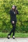 Black-animale-blazer-black-asos-pants