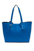 Leather Double Straps Tote Bag Shopper Shoulder Bag