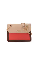 Structured Two-tone Shoulder Bag with Chain Strap