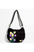 Handmade Canvas Tulip Acrossbody Bag