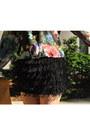 Black-fringe-zara-skirt-floral-h-m-shirt-tan-suede-zara-bag