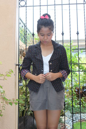 shopvintagefinds blazer - sm dept skirt - Forever 21 accessories