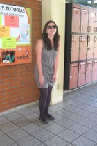 dress - Zara - Mango glasses - Mango shoes