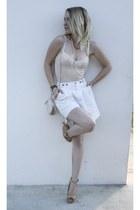 H&M bag - Bershka heels - H&M bracelet - H&M necklace - Hermes watch