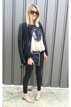 Suncoo top - after pants jacket - Molly Bracken leggings - Celine sunglasses