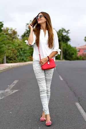 Choies blouse - Zara pants - suiteblanco flats