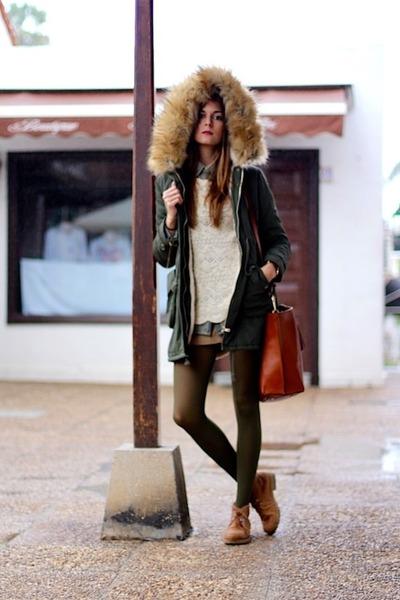 Massimo Dutti sweater - Panama Jack boots - Sheinside jacket - Massimo Dutti bag
