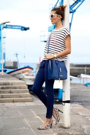 PERSUNMALL bag - Mango t-shirt - Zara panties - PERSUNMALL heels