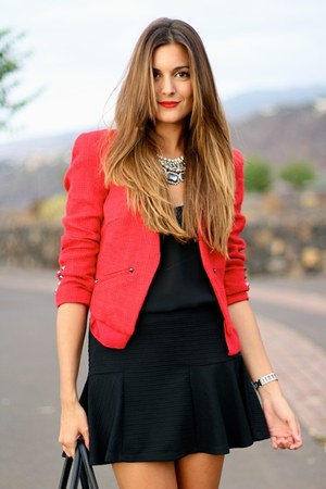 Mango jacket - Zara skirt - Stradivarius heels - Choies necklace