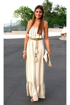 cream H&M dress - beige BLANCO shoes - neutral H&M bag