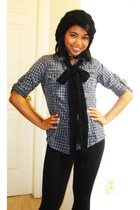 Costa Blanca scarf - Old Navy blouse - boots