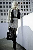 Wasteland necklace - Barneys New York boots - Simply Audrey dress - DKNY tights