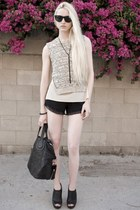 Givenchy bag - nightcap shorts - Ray Ban sunglasses - H&M necklace - 31 Phillip