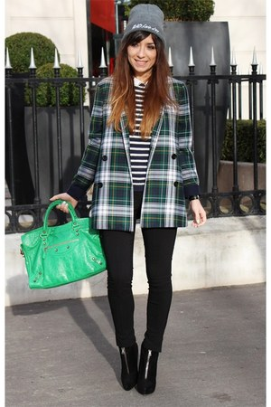 black PROENZA SCHOULER boots - dark green SUNO coat