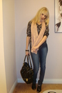 Black-h-m-blouse-pink-h-m-scarf-black-winners-purse-blue-sirens-jeans-
