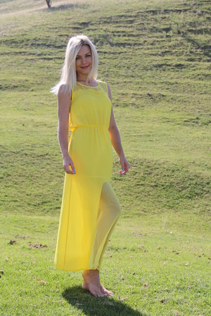 yellow handmade dress