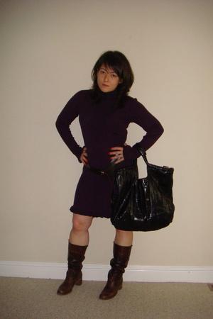 Ralph Lauren dress - BCBG belt - Frye shoes