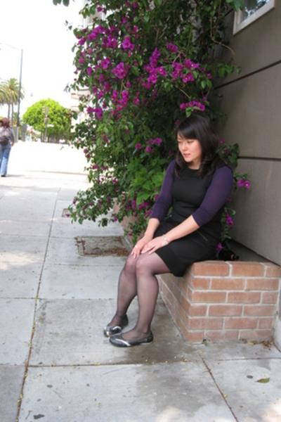 ann taylor tights - Diesel shoes - Diane Von Furstenberg dress - Stefanel shirt