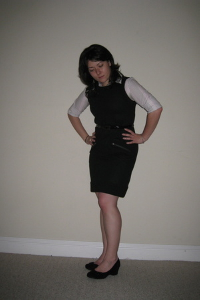 me too shoes - Kenneth Cole shirt - dvf dress