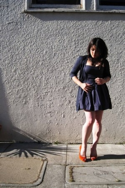 H&M dress - H&M sweater - Nine West shoes