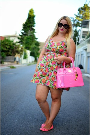 Zara dress - pauls boutique bag - Zara flats
