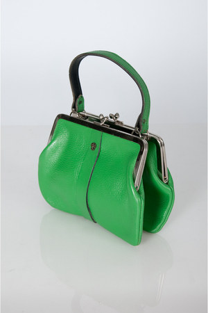 green leather frame vintage bag